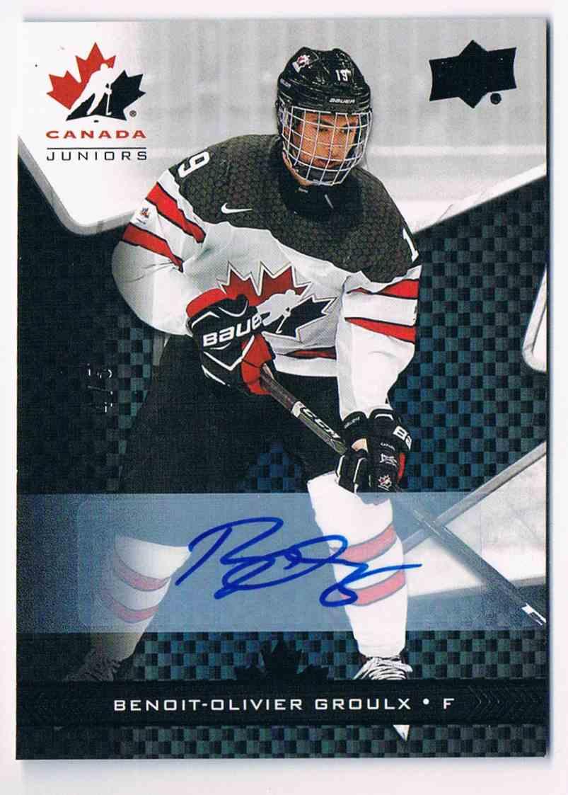 2018-19 Upper Deck Canada Juniors Black Benoit-Olivier Groulx #45 card front image