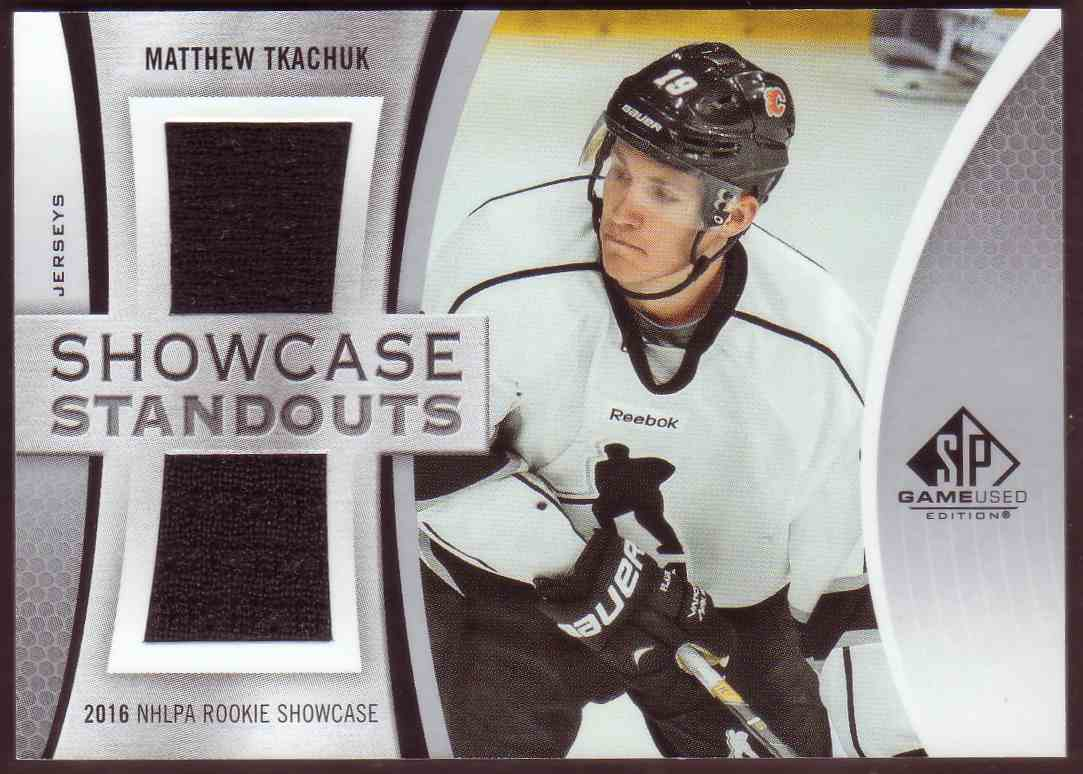 2019-20 SP Game Used Showcase Standouts Matthew Tkachuk #SS-MT card front image