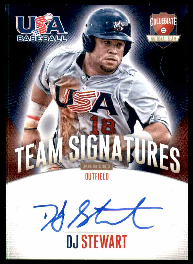 2014 Usa Baseball Box Set Team Signatures Dj Dj Stewart
