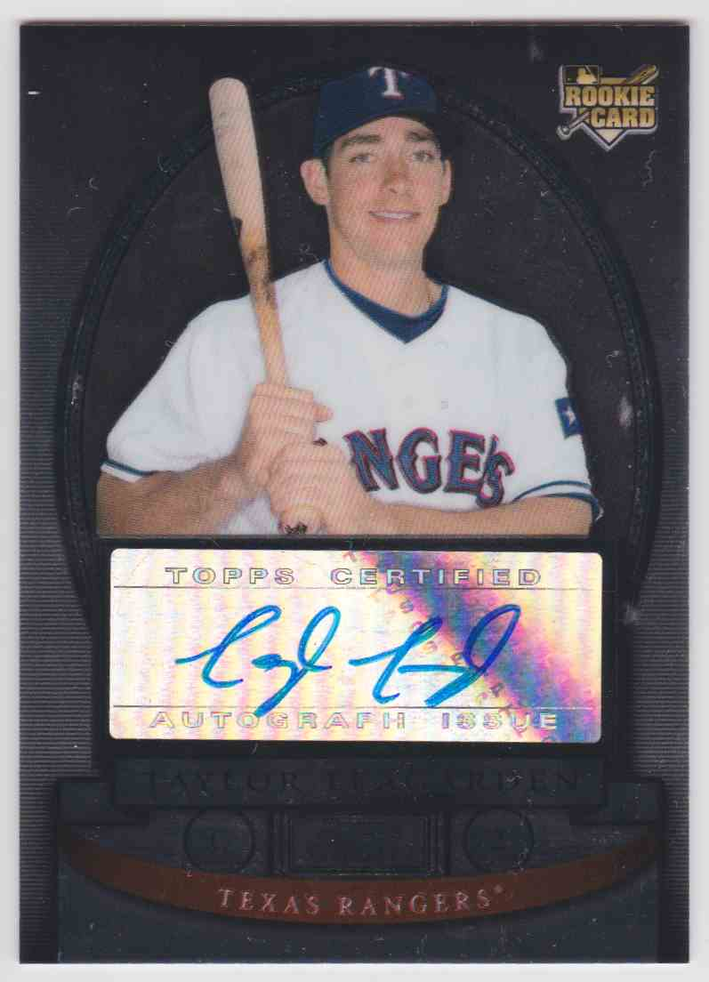 2008 Bowman Sterling Autograph Taylor Teagarden #BS-TT card front image
