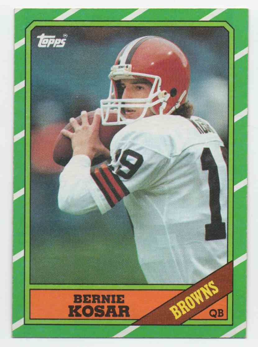 1986 Topps Bernie Kosar #187 card front image