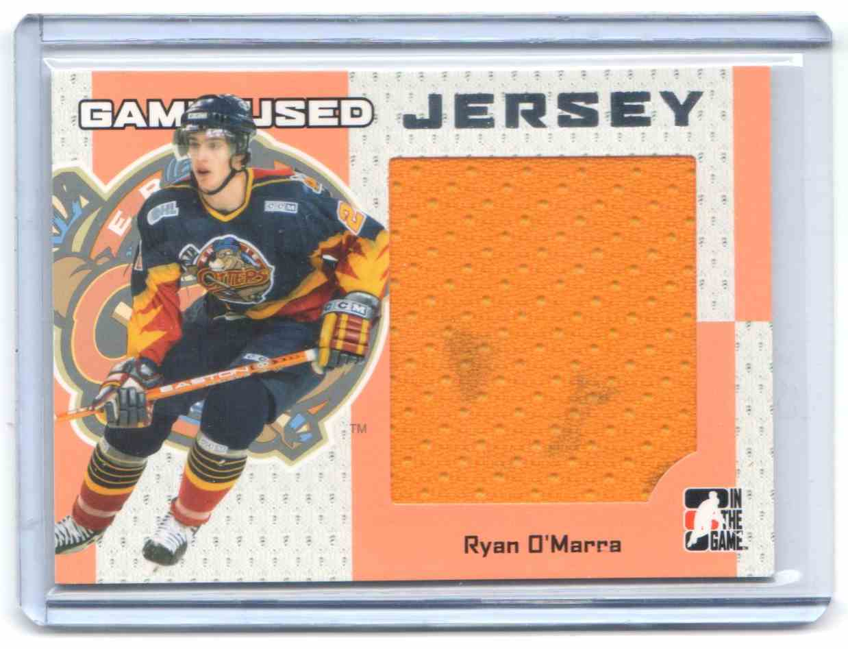 2006-07 In The Game Heroes And Prospects Jerseys Ryan O'Marra #GUJ-45 card front image