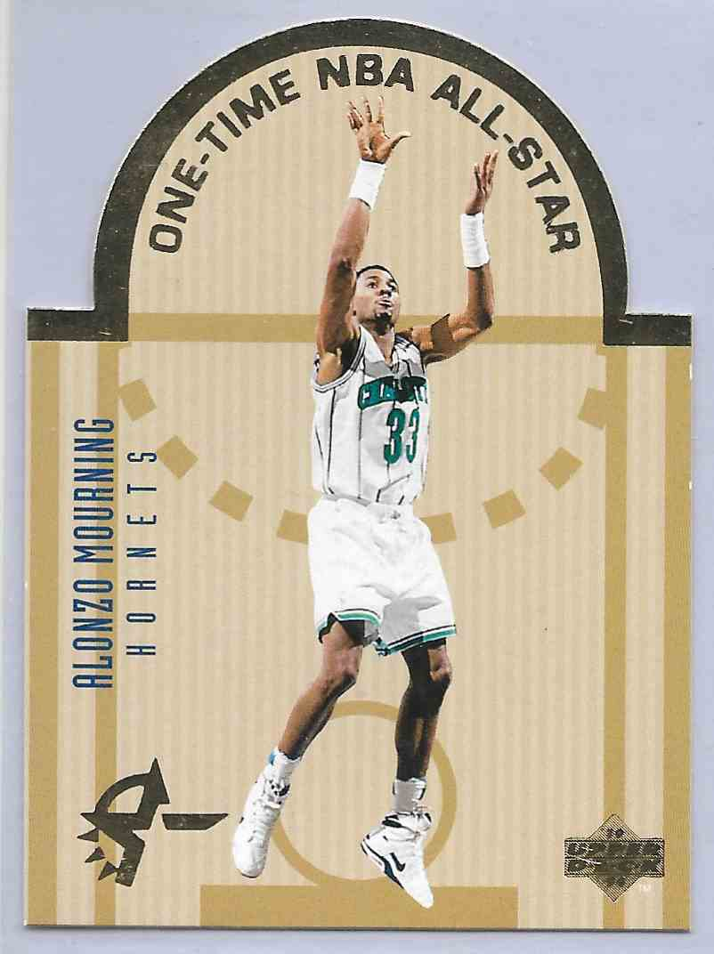 1994-95 Upper Beck Se All Star Die Cuts Alonzo Mourning #E2 card front image