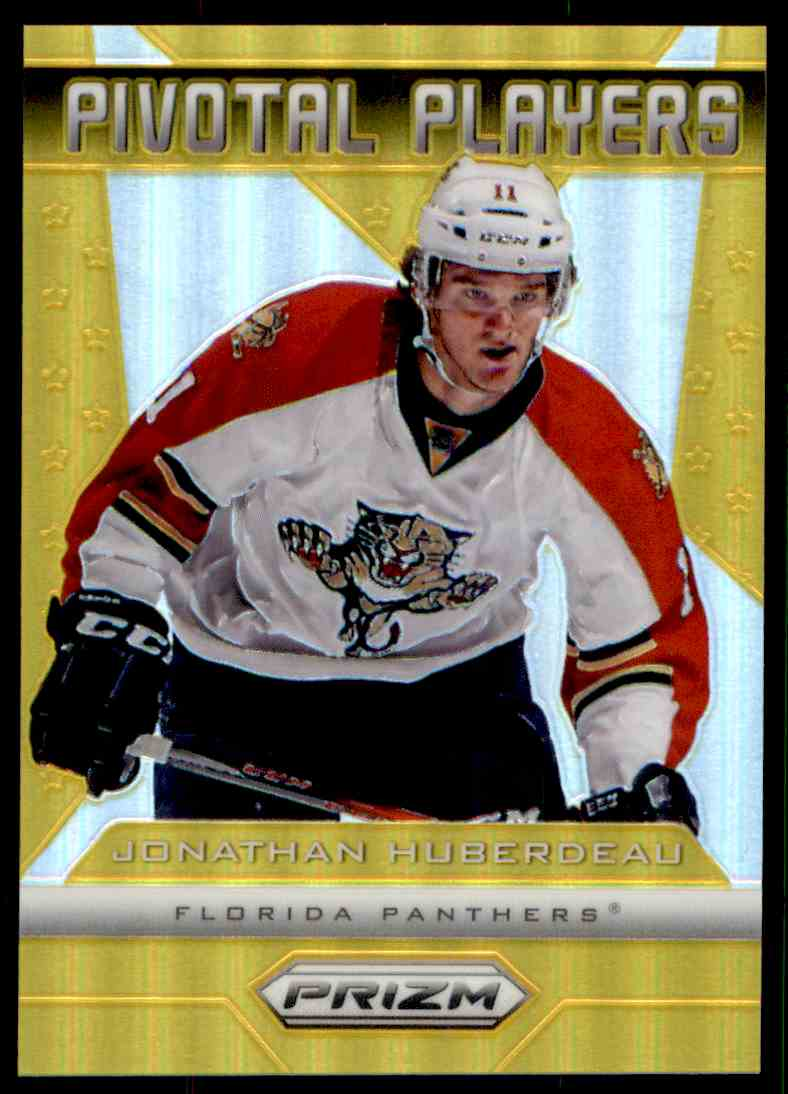2013-14 Prizm Pivotal Players Prizms Gold Jonathan Huberdeau #PP-12 card front image