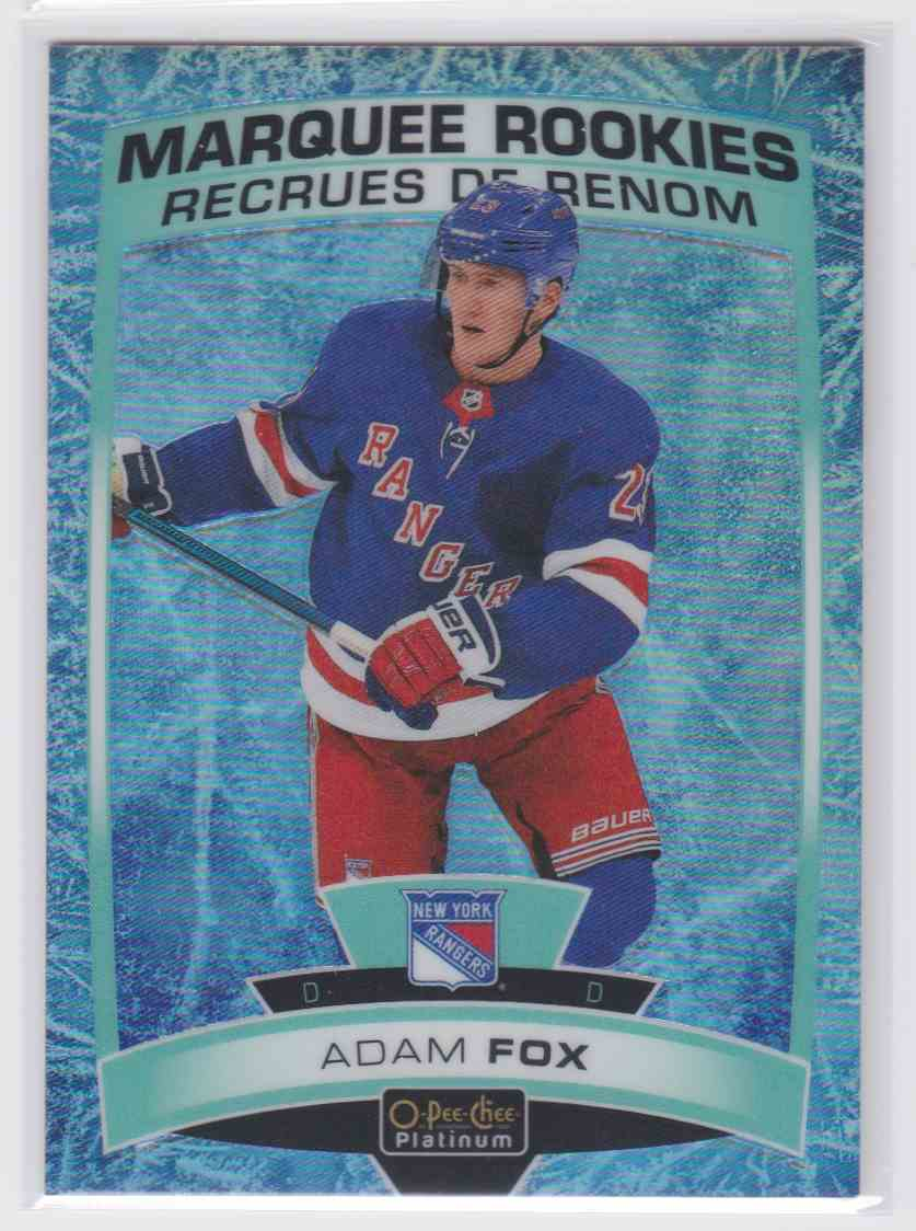 2019-20 Upper Deck Hockey O-Pee-Chee Platinum Adam Fox - Arctic Freeze #178 card front image