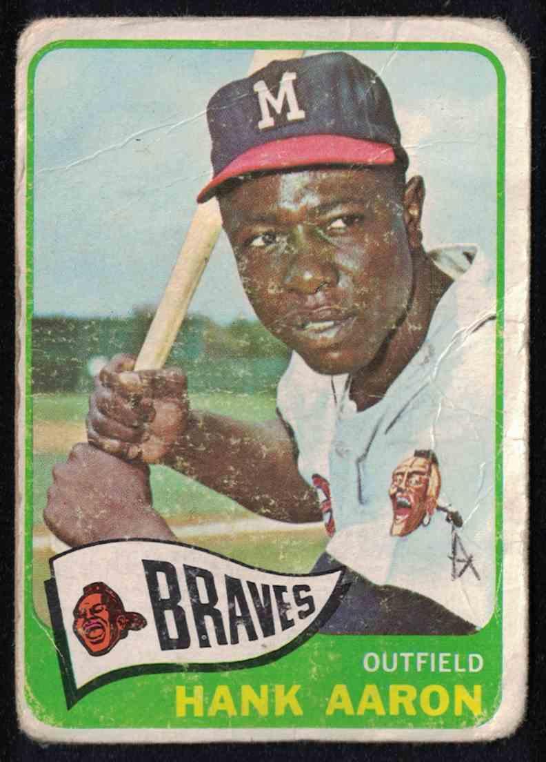 1965 Topps Hank Aaron - Poor #170 card front image