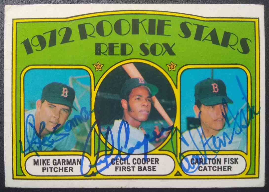 1972 Topps Carlton Fisk Cecil Cooper Mike Garman #79 card front image