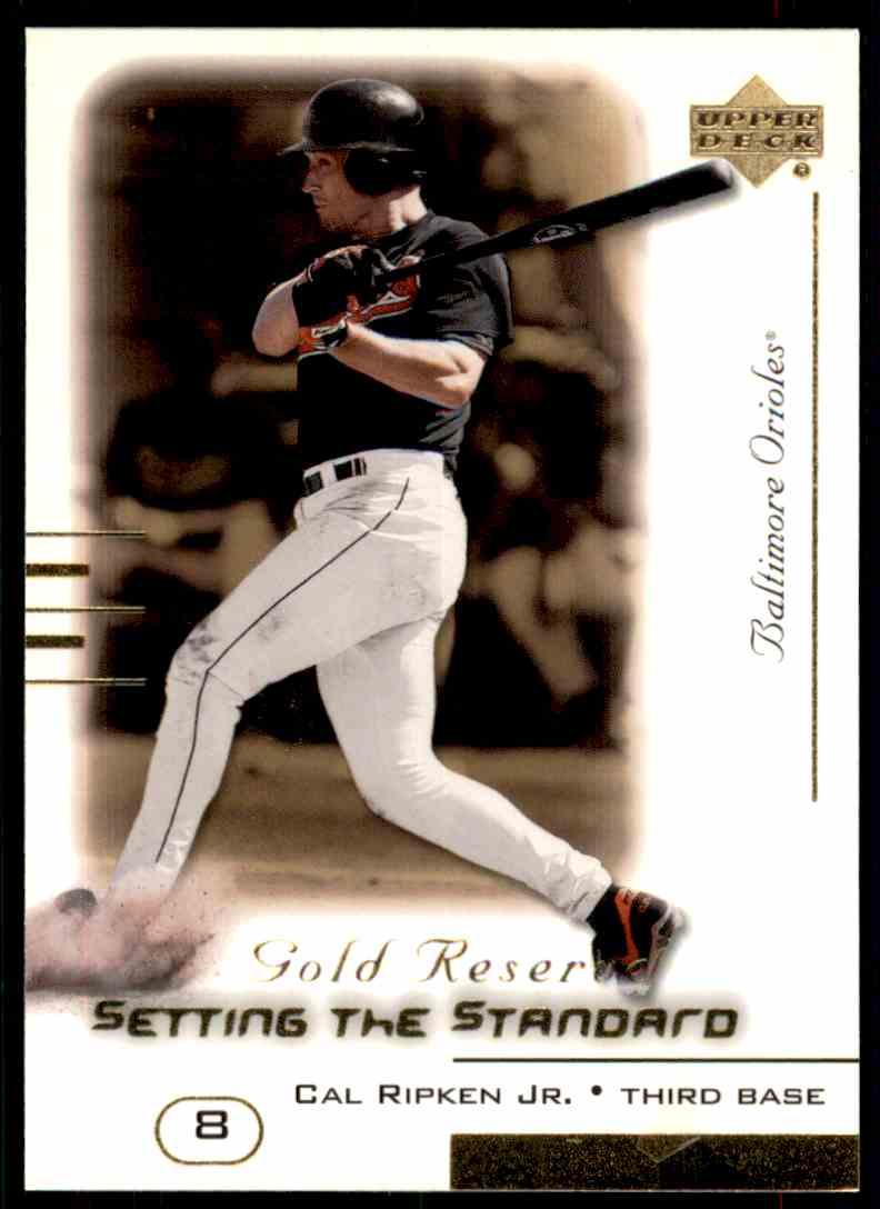 2000 Upper Deck Gold Reserve Setting The Standard Cal Ripken JR. #S4 card front image