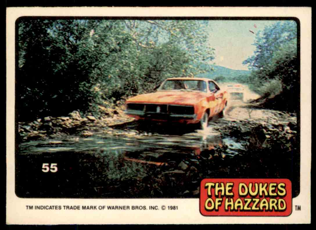 1981 Donruss Dukes Of Hazzard Card No. 55 #55 card front image