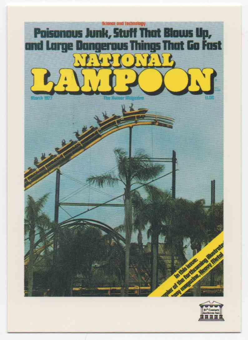 1993 National Lampoon March 1977 #63 card front image