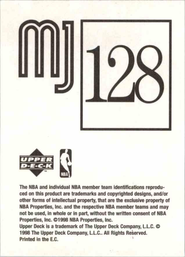 1998-99 Upper Deck Michael Jordan You Tube Michael Jordan #128 card back image