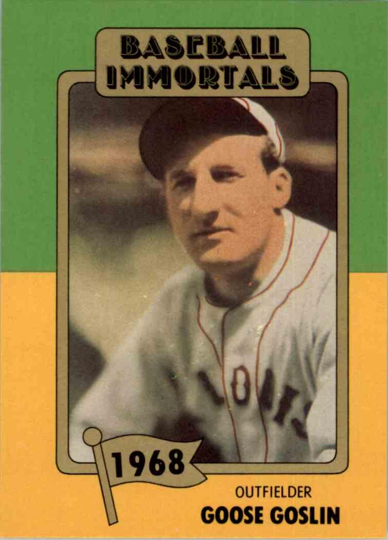 1980 Baseball Immortals 1st Printing Goose Goslin