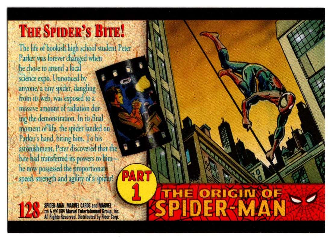 1994 Amazing Spider-Man Shte Spider's Bite #128 card back image