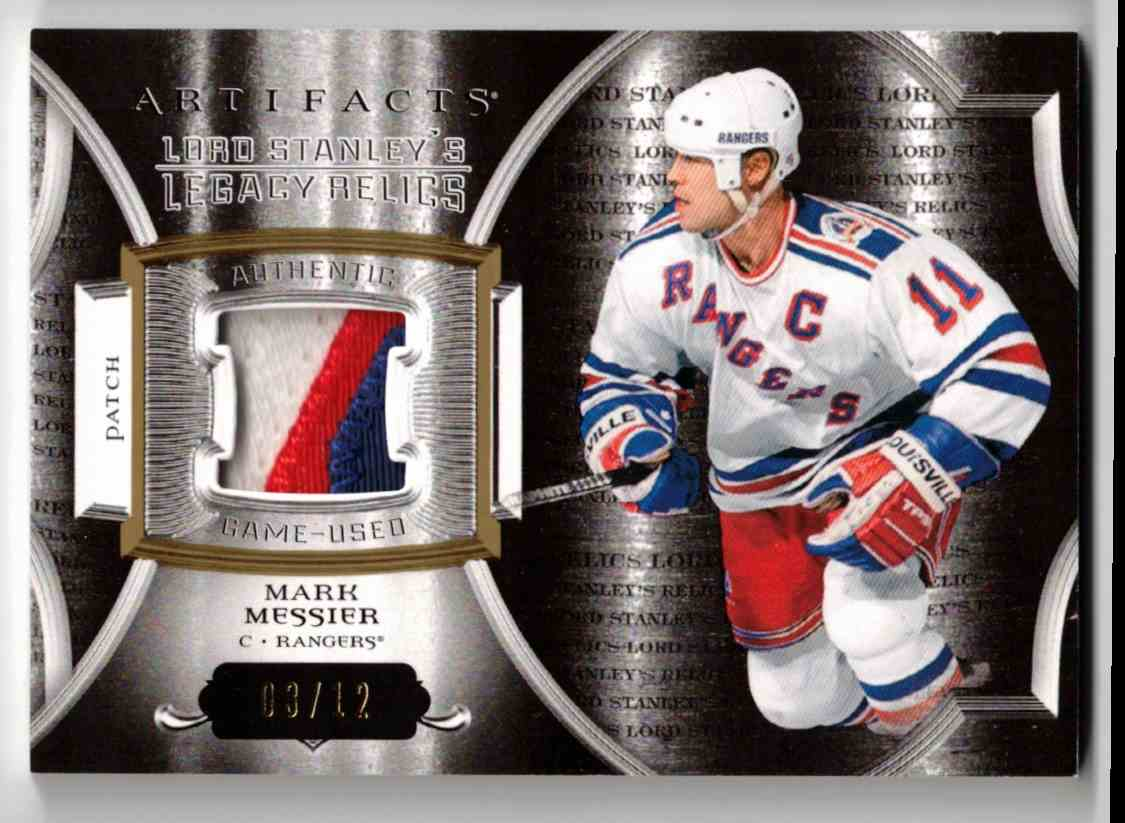 2015-16 Upper Deck Artifacts Lord Stanley's Legacy Relics Gold Mark Messier #LSLR-MM card front image