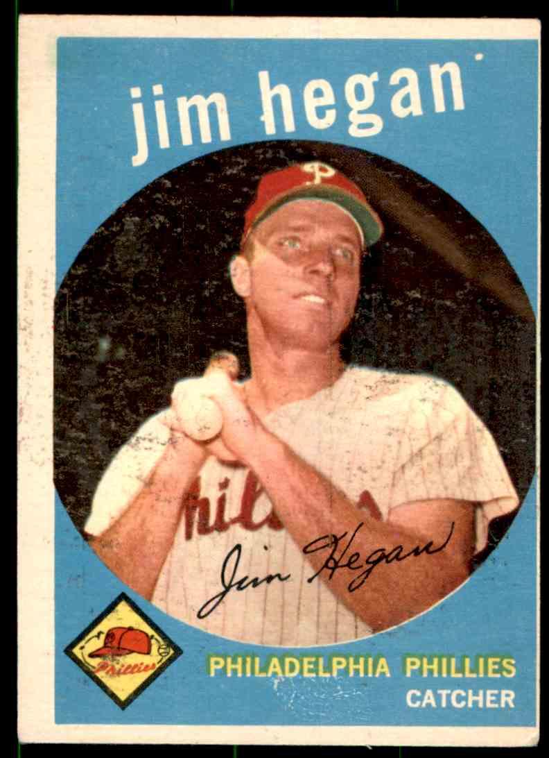 1959 Topps Jim Hegan #372 card front image