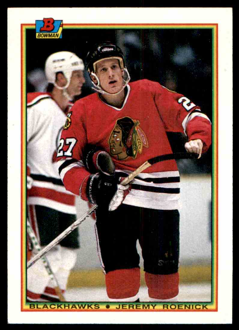 1990-91 Bowman Jeremy Roenick #1 card front image