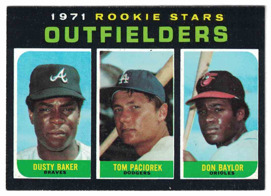 1971 Topps Don Baylor, Dusty Baker, Paciorek Rookie Stars High Number NM-MT #709 card front image