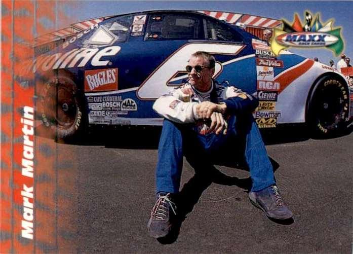1997 Maxx Mark Martin #6 card front image