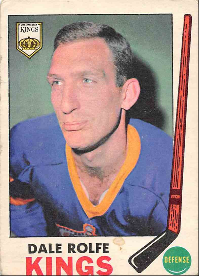 1969-70 O-Pee-Chee Dale Rolfe #100 card front image