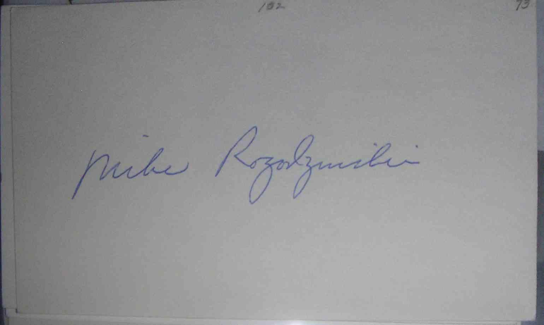 1973 3X5 Mike Rogodzinski card front image