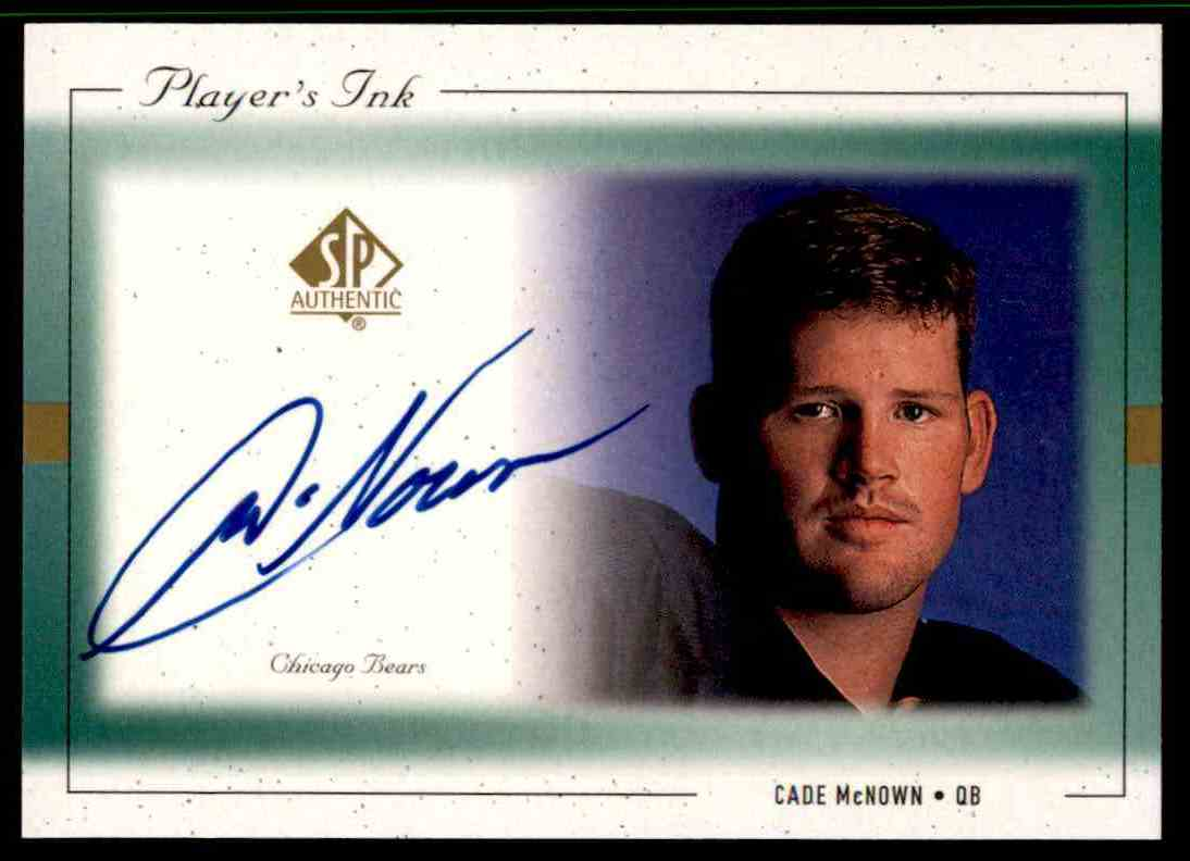 1999 SP Player's Ink Cade Mcnown #CM-A card front image