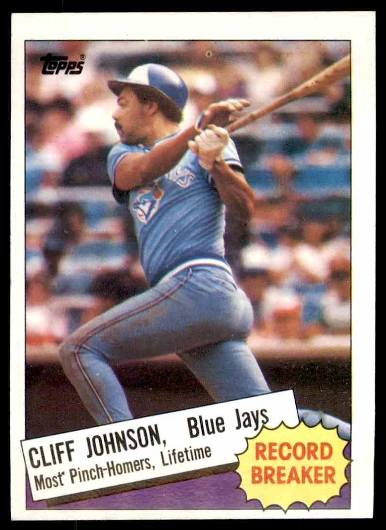 1985 Topps Topps Cliff Johnson 4 On Kronozio