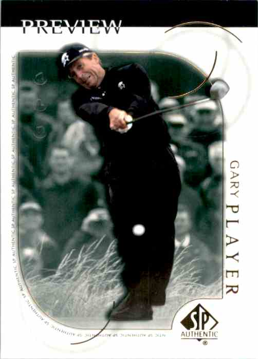 2001 SP Authentic Preview Gary Player #14 card front image