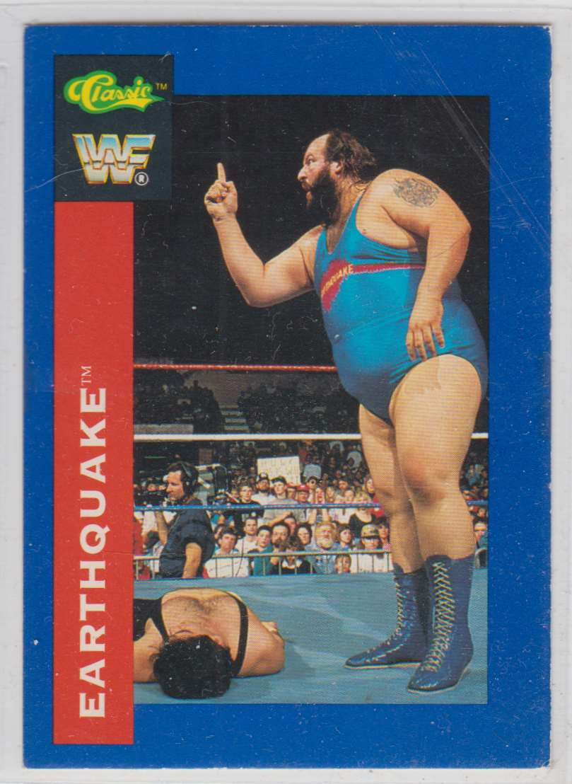 1991 Classic WWF Superstars Earthquake #75 card front image