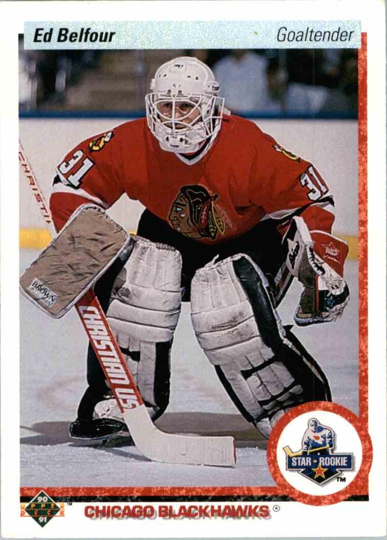 1991-92 Upper Deck Ed Belfour #55 card front image