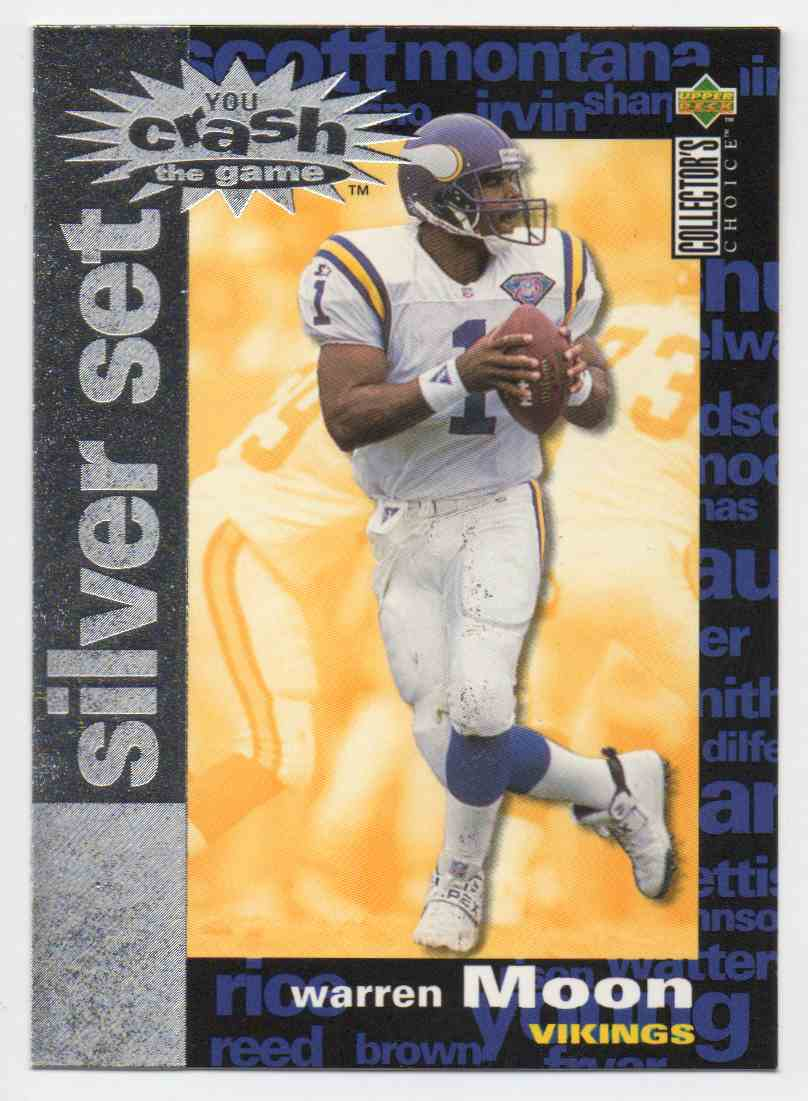 1995 Collectors Choice Crash The Game Silver Set Warren Moon #8 card front image