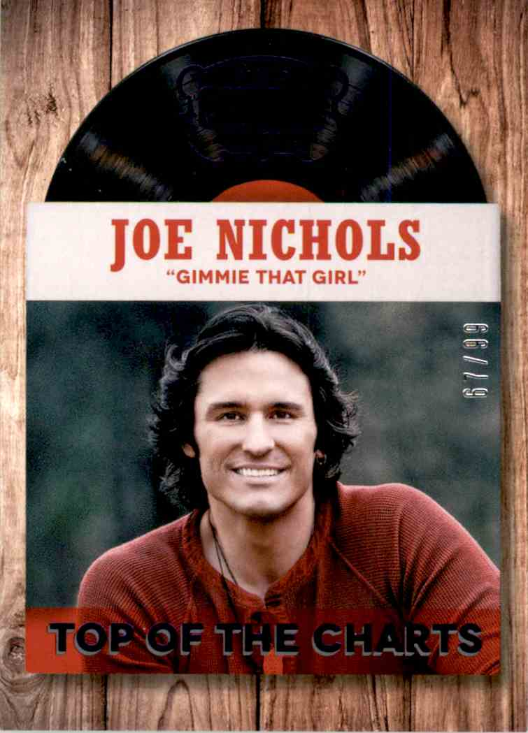 2015 Country Music Top Of The Charts Purple Joe Nichols #15 card front image