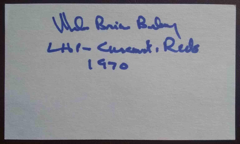 1970 3X5 Mel Behney card back image