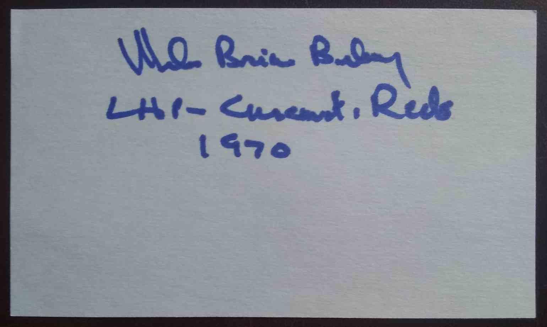1970 3X5 Mel Behney card front image