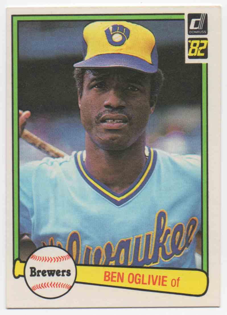 1982 Donruss Ben Oglivie #484 card front image