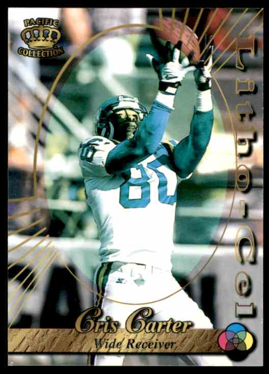 1996 Pacific Litho-Cel Cris Carter #58 card front image