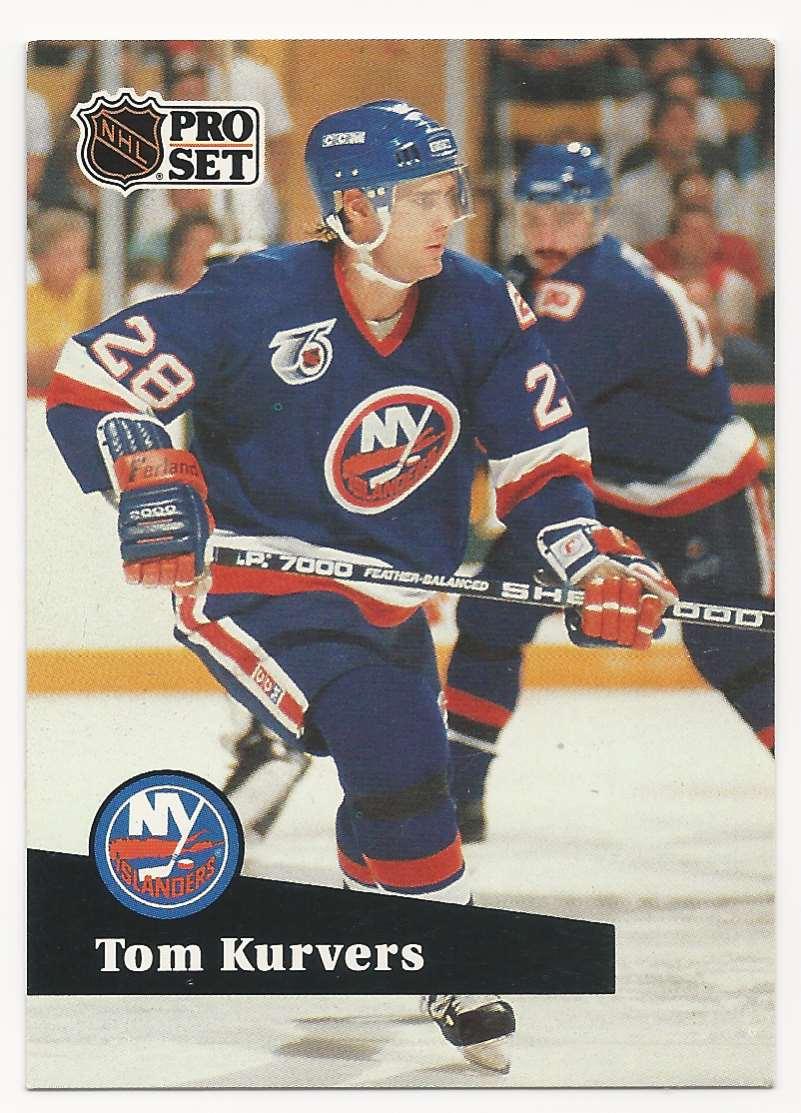 1991-92 Pro Set Tom Kurvers #428 card front image