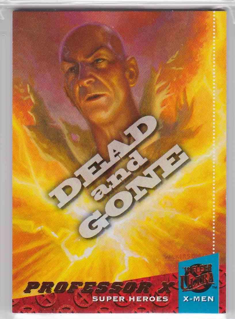 2018 Fleer Ultra X-Men Dead And Gone Professor X #DG7 card front image