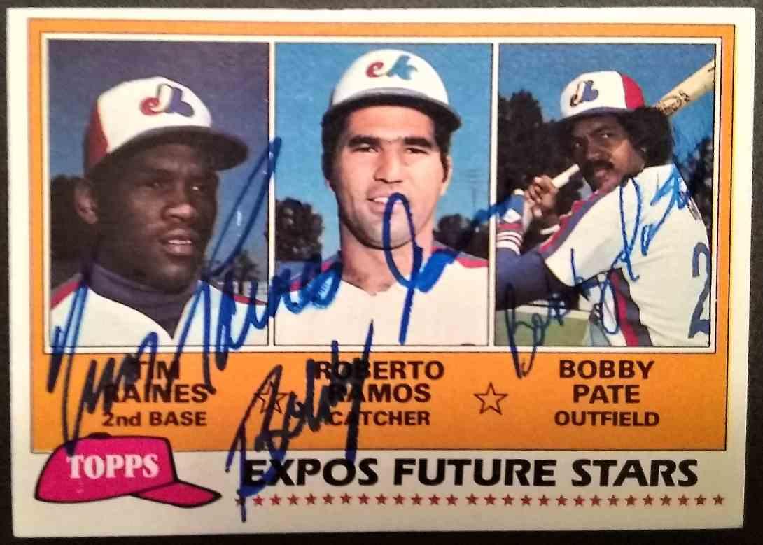 1981 Topps Tim Raines Bobby Ramos Bob Pate #479 card front image