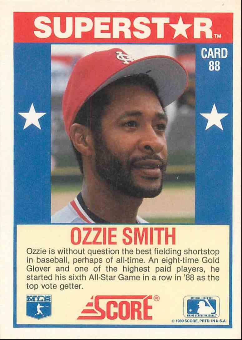 1989 Score Ozzie Smith 88 On Kronozio