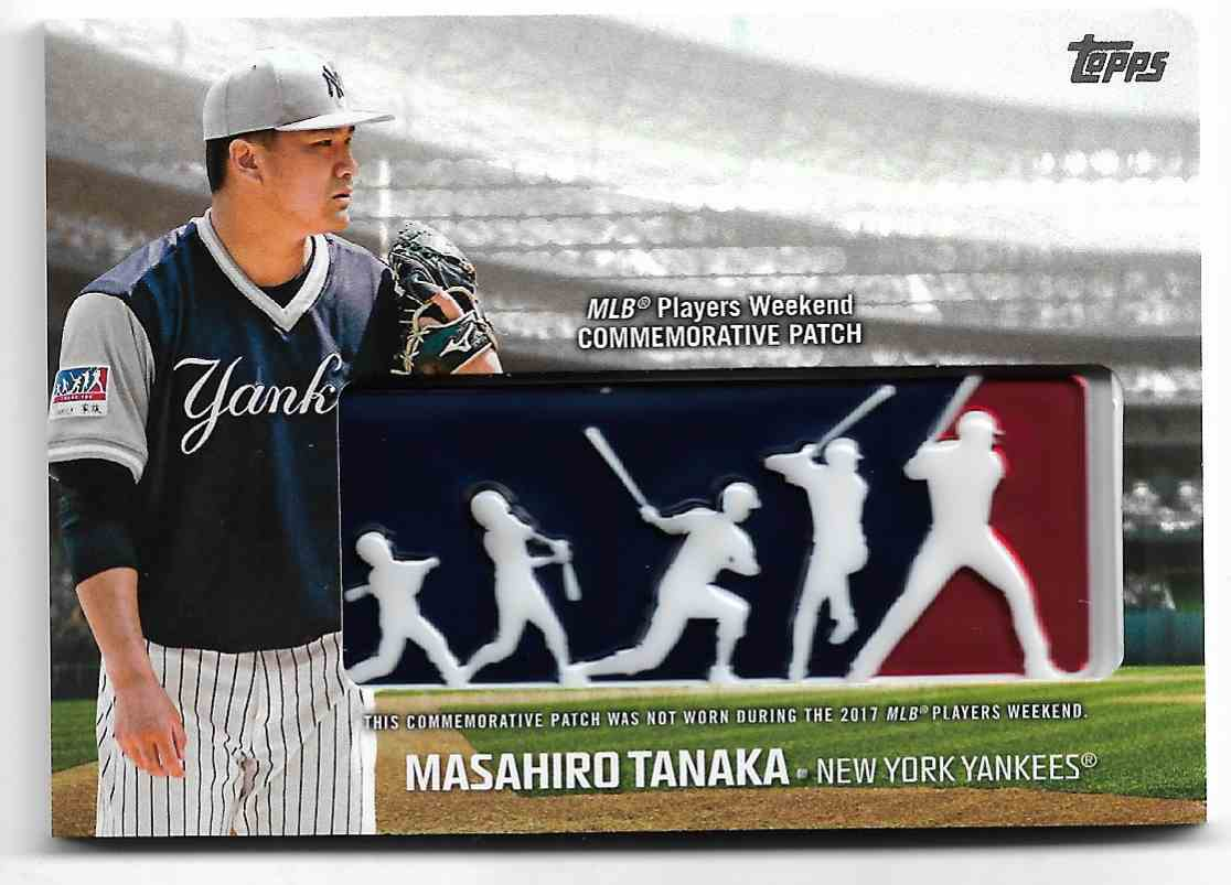 2018 Topps Masahiro Tanaka - Logo Patch Card - New York Yankees - Mint #PWP-MA card front image