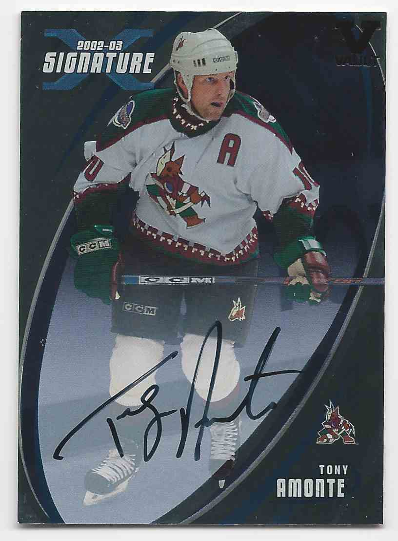 2002-03 Be A Player Signature Series Autographs (The Final Vault) Tony Amonte #115 card front image