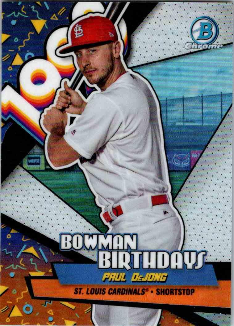 2018 Bowman Chrome Bowman Birthdays Paul DeJong #BB-PD card front image