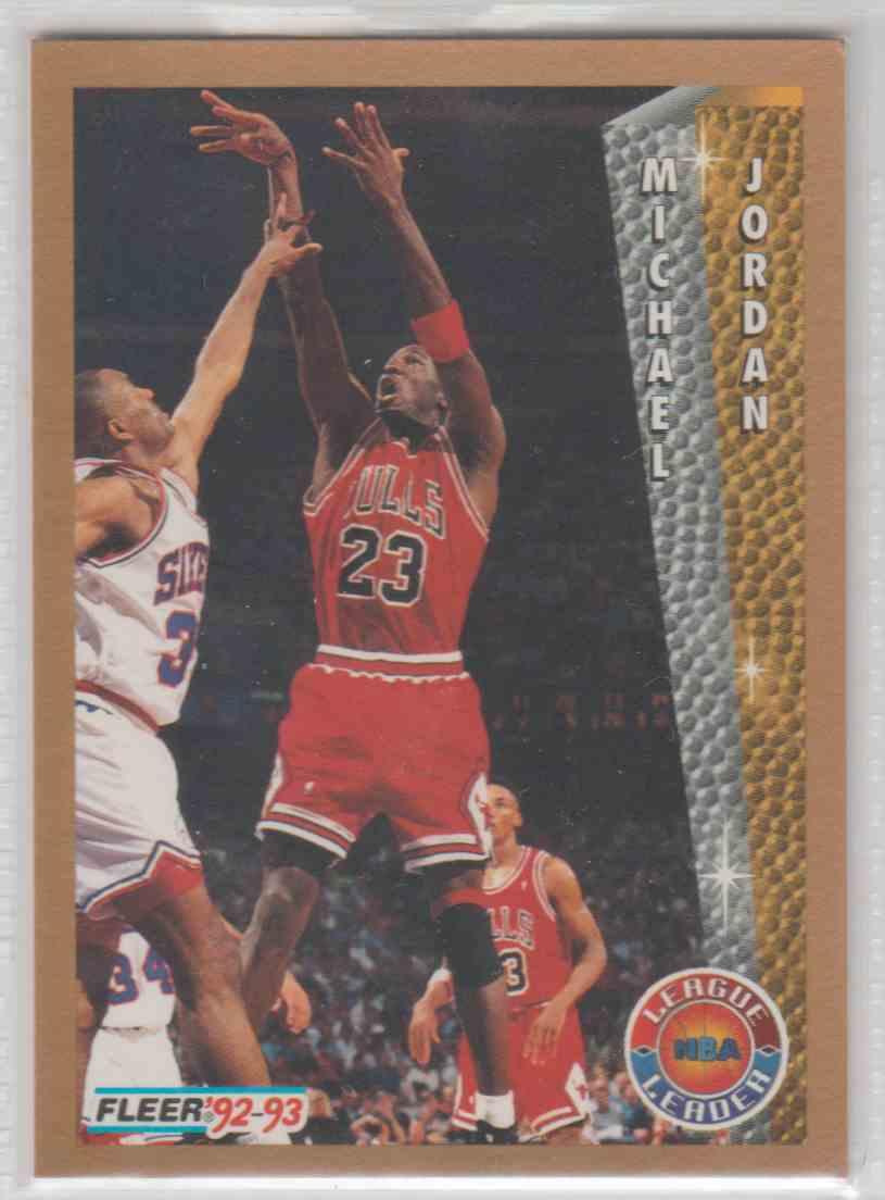 1992 93 Fleer League Leader Michael Jordan 238 Card Front Image