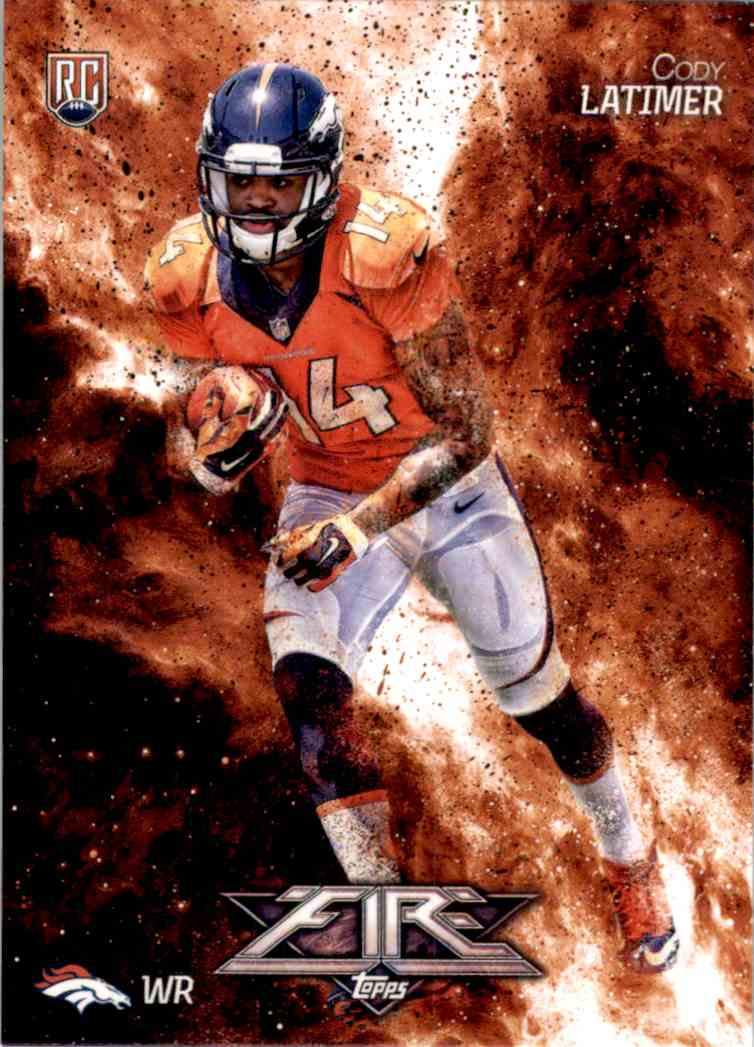 2014 Topps Fire Cody Latimer RC #116 card front image