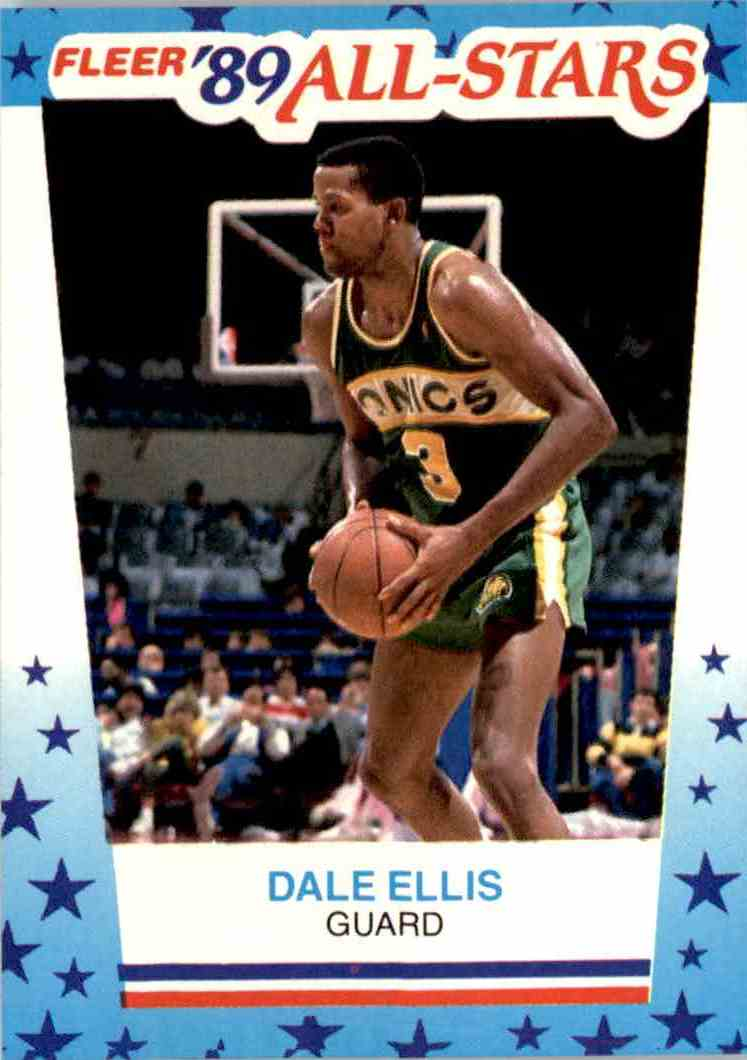 1989 90 Fleer Stickers Dale Ellis 8 on Kronozio