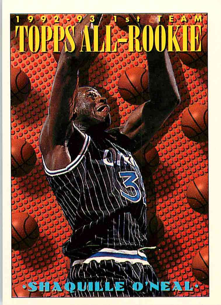 1993 94 Topps All Rookie Shaquille O39neal 152 On Kronozio