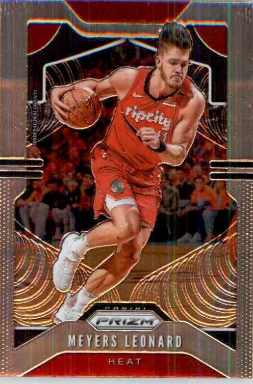 2019-20 Panini Prizm Basketball Prizm Meyers Leonard #117 card front image