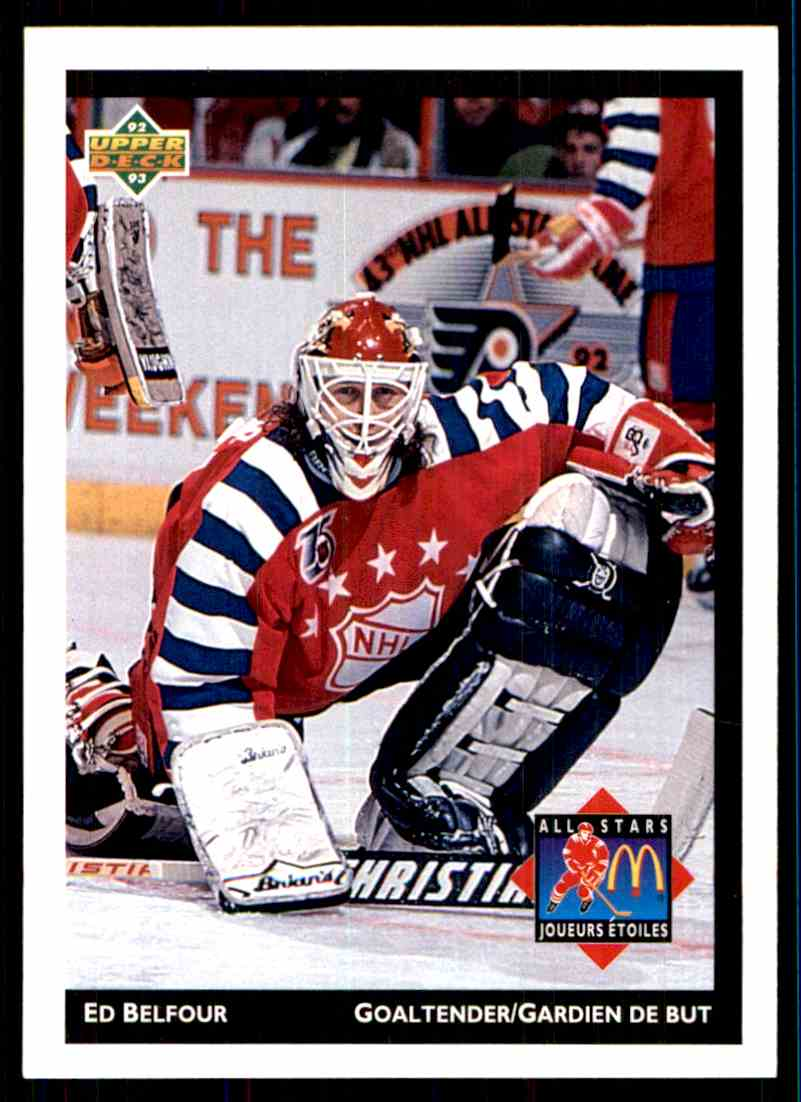 1992-93 Mcdonald's Upper Deck Ed Belfour #1 card front image