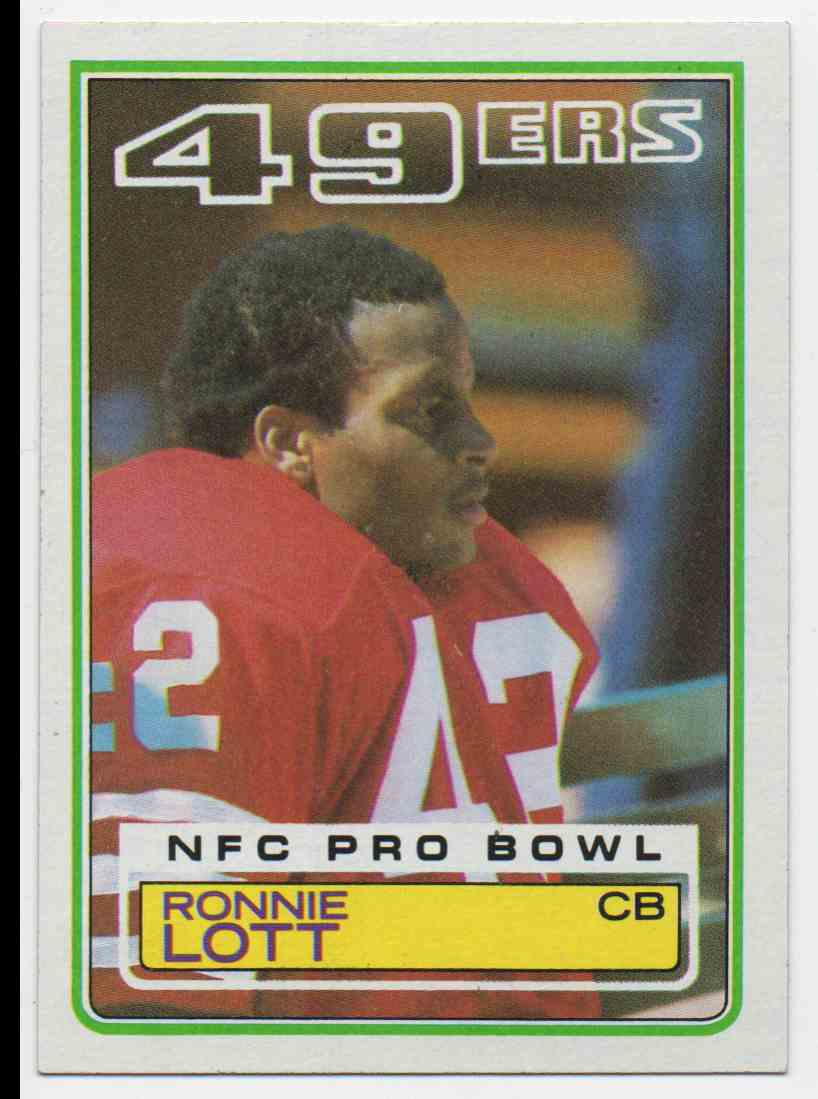 1983 Topps Ronnie Lott #168 card front image