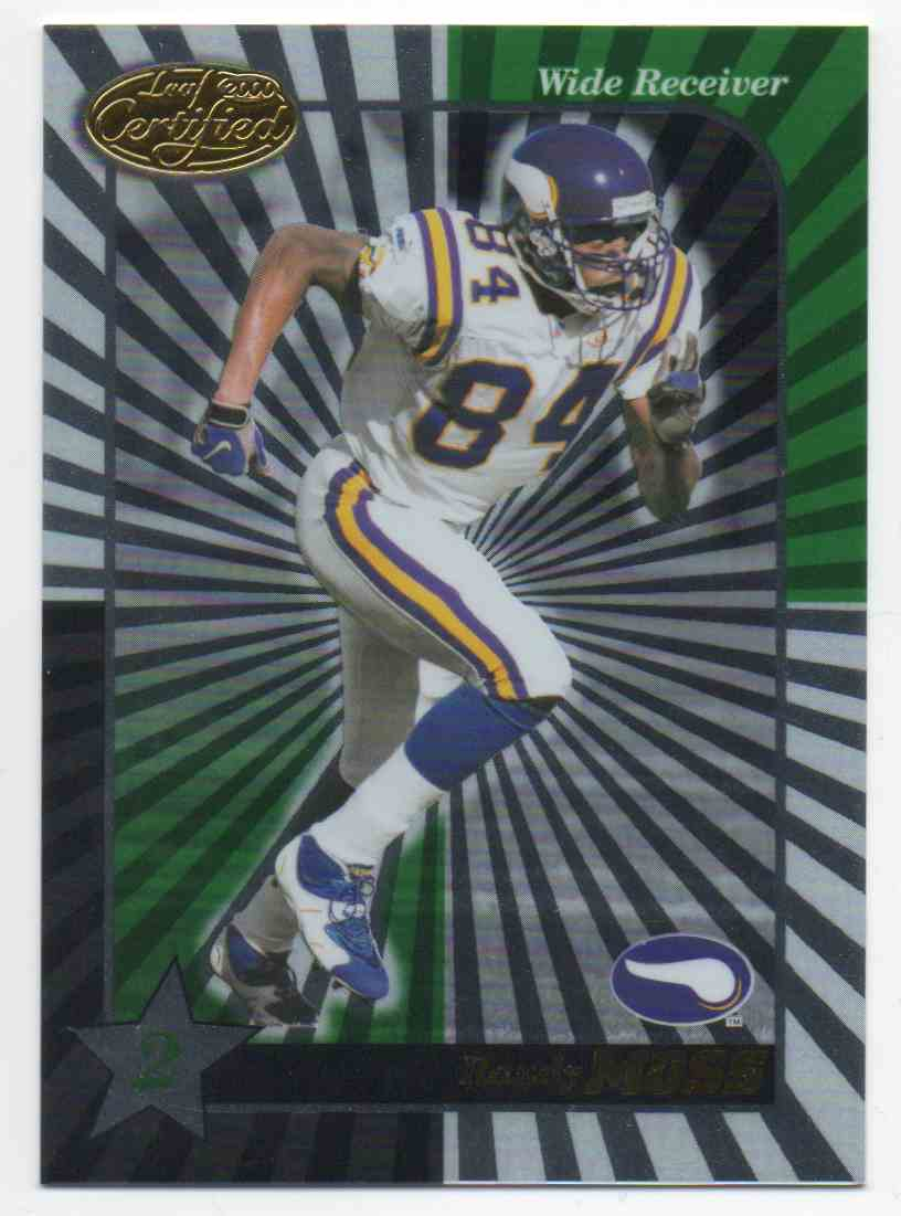 2000 Leaf Certified Randy Moss #128 card front image